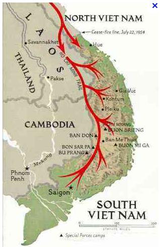 vietnam map - ho chi min