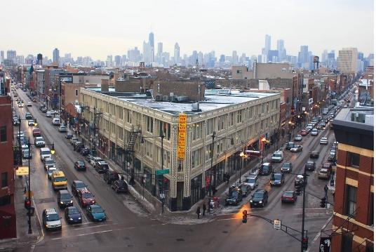 Flat iron building chicago