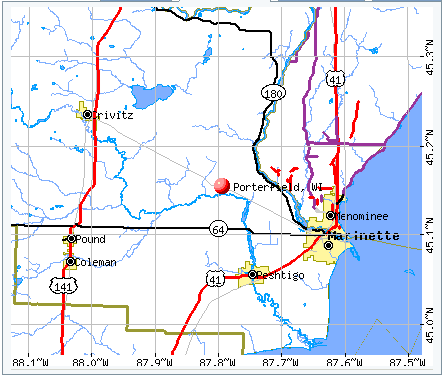 porterfield map