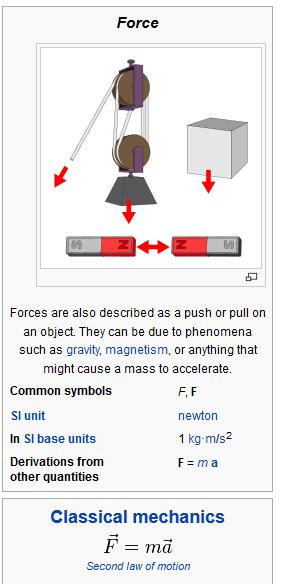 classical physics  force